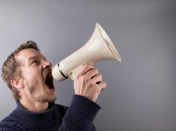 man-with-a-megaphone